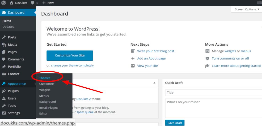 Installing WordPress Theme