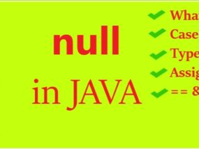 null in JAVA